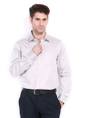 Arrow Men Light Grey Slim Fit Formal Shirt