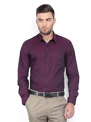 Arrow Men Purple Slim Fit Formal Shirt