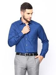 Arrow Men Blue Striped Formal Shirt