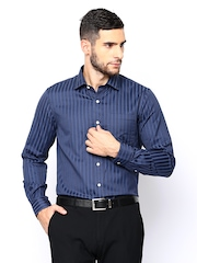 Arrow Men Navy Striped Formal Shirt