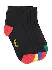 Arrow Men Set of 5 Black Socks