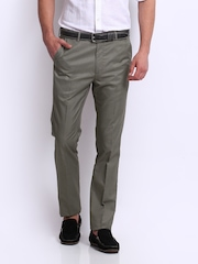 Arrow Men Taupe Tapered Fit Formal Trousers