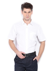 Arrow Men White Smart-Casual Shirt