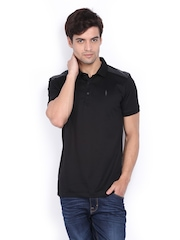 Arrow New York Men Black Polo T-shirt