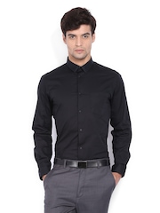 Men Black Snug Fit Formal Shirt Arrow New York