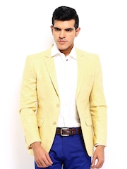 Arrow New York Men Yellow Zero Calorie Fit Blazer