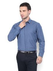 Arrow New York Men Blue Striped Slim Fit Smart-Casual Shirt