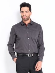 Arrow New York Men Charcoal Grey Slim Fit Formal Shirt