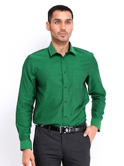 Arrow New York Men Green Slim Fit Formal Shirt