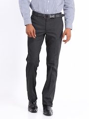 Arrow New York Men Grey Slim Fit Trousers