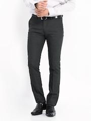 Arrow New York Men Grey Super Slim Fit Formal Trousers