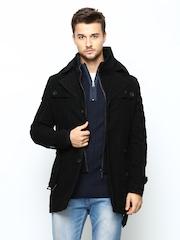 Arrow New York Men Black Coat