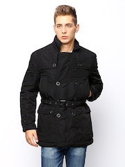 Arrow New York Men Black Padded Jacket