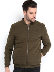 Arrow New York Men Olive Padded Jacket
