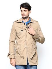 Arrow New York Men Khaki Coat