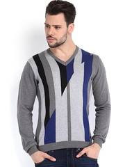 Arrow New York Men Grey Sweater