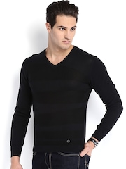 Arrow New York Men Black Sweater