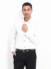 Men White Slim Fit Formal Shirt Arrow New York