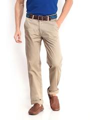 Arrow Sport Men Beige Slim Fit Trousers
