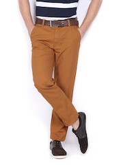 Arrow Sport Men Brown Slim Fit Trousers
