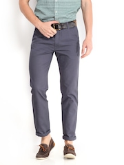 Arrow Sport Men Grey Slim Fit Trousers