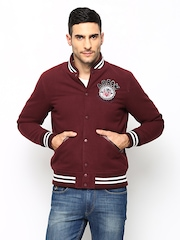 Arrow Sport Men Burgundy Sports Jacket