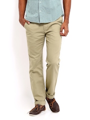 Arrow Sport Men Khaki Slim Fit Trousers