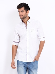 Arrow Sport Men White Manhattan Slim Fit Casual Shirt