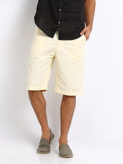 Arrow Sport Men Cream Coloured Shorts