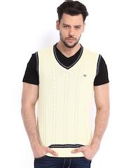 Arrow Sport Men Cream-Coloured Sweater