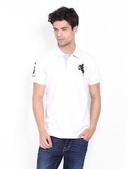 Arrow Sport Men White Polo T-shirt