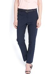 Arrow Woman Navy Formal Trousers