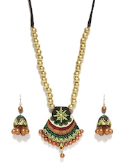 Artwood Black & Multi-Coloured Jewellery Set