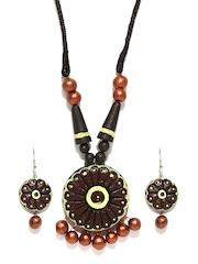 Artwood Brown & Bronze Coloured Jewellery Set