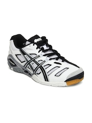 Asics Men White & Black Gel-Sensei 4 Sports Shoes