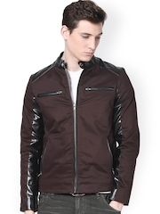 Atorse Men Brown Jacket