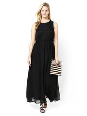 Atorse Black Maxi Dress