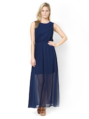 Atorse Navy Maxi Dress
