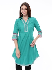 Aurelia Women Green Kurta
