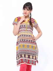 Aurelia Women Multicoloured Tribal Print Kurta