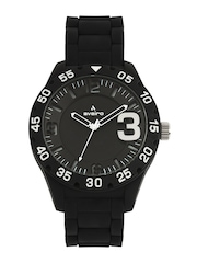 Aveiro Men Black Dial Watch AV11BLKSIL