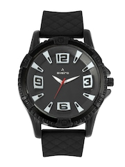 Aveiro Men Black Dial Watch AV14BLKSIL