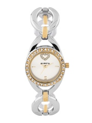 Aveiro Women Silver-Toned Dial Watch AV26HRTDMDWHT