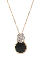 Ayesha Black & Gold-Toned Pendant with Chain