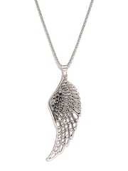 Ayesha Silver-Toned Pendant with Chain