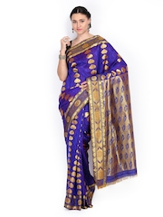 Azcarya Blue Art Silk Traditional Saree