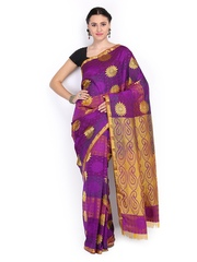 Azcarya Purple & Magenta Art Silk Traditional Saree