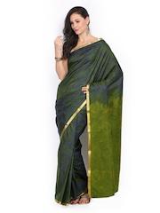 Azcarya Green & Blue Traditional Saree