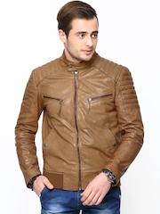 Bareskin Men Brown Leather Jacket