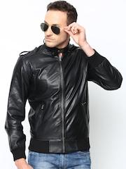 BARESKIN Men Black Leather Jacket
